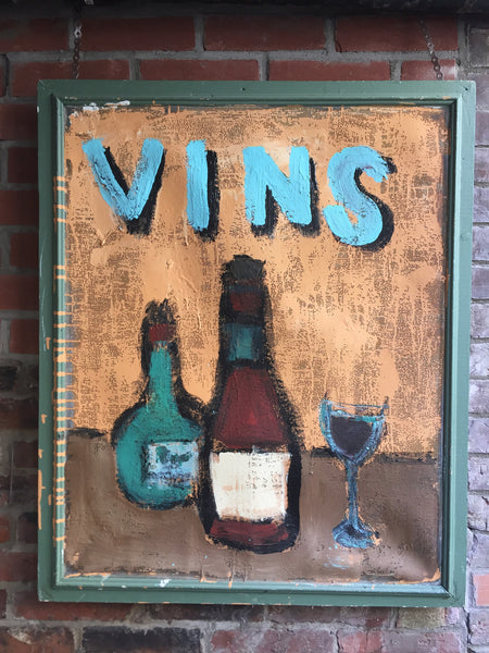 Vins - outdoor latex painting on screen - Outdoor art - screen by David Dossett - Martello Alley