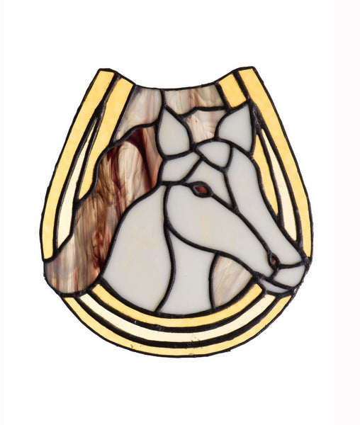 Stained Glass - Horse and Horseshoe (print) - Print by Alistair Morris - Martello Alley