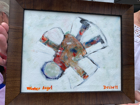 Winter angel - Painting by David Dossett - Martello Alley