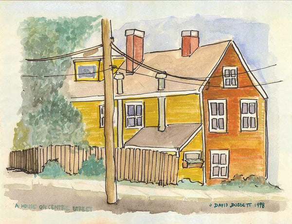 A House On Centre Street - Print by David Dossett - Martello Alley