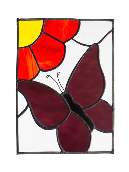 Stained Glass - Butterfly and Flower (print) - Print by Alistair Morris - Martello Alley