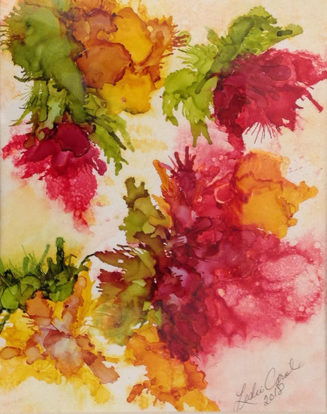 Blush of Spring II - Alcohol Ink by Leslie Welfare - Martello Alley