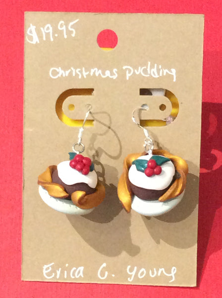 Earrings Christmas pudding