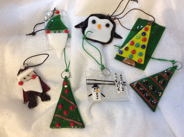 Assorted Fused Glass ornaments