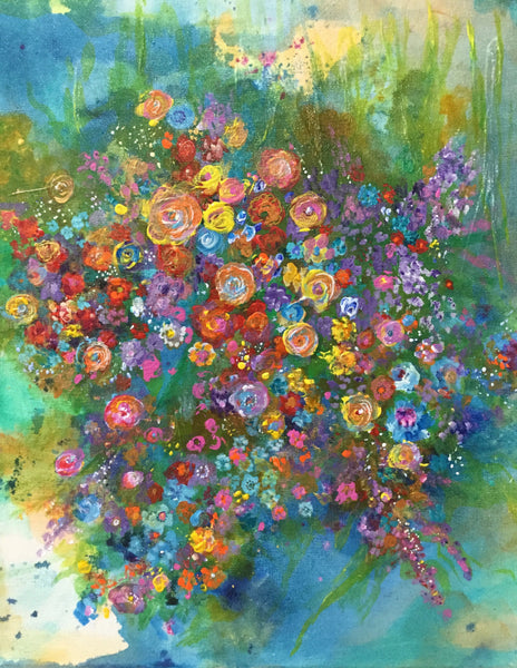 Brilliant Bouquet 11 x 14 print - 11x14 print by Yvonne Merton Fox - Martello Alley