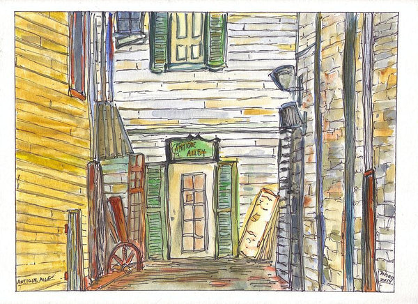 Antique Alley - Print by David Dossett - Martello Alley