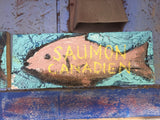 Saumon canadien vintage sign -  by David Dossett - Martello Alley