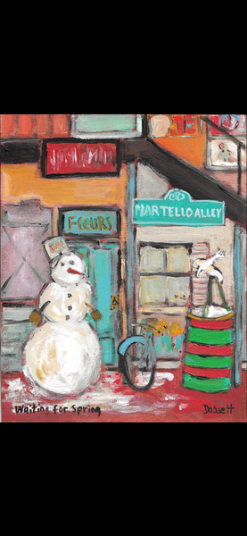 Waiting For Spring - painting by David Dossett - Martello Alley