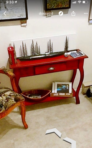 Hall table - red