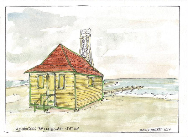 Ashbridges Bay Lifeguard Station - Print by David Dossett - Martello Alley