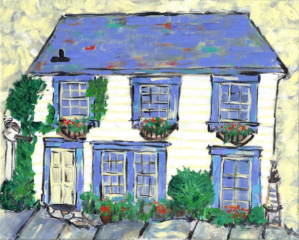 House On Richard Street Portsmouth - Print by David Dossett - Martello Alley