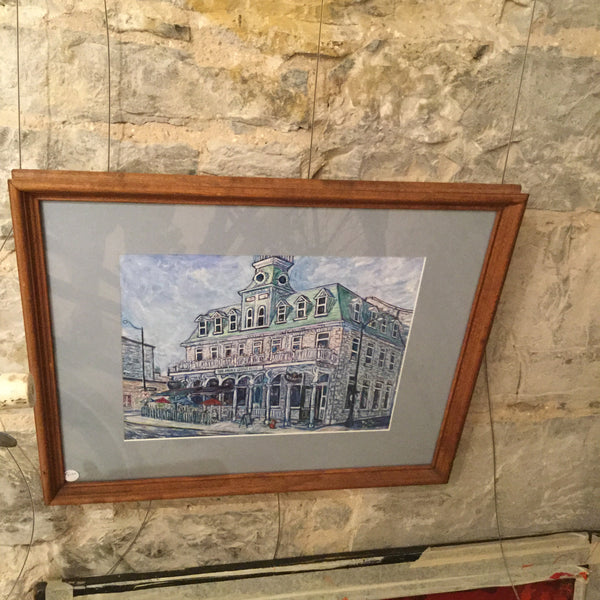 Prince George Framed Original - Painting by Tully - Martello Alley
