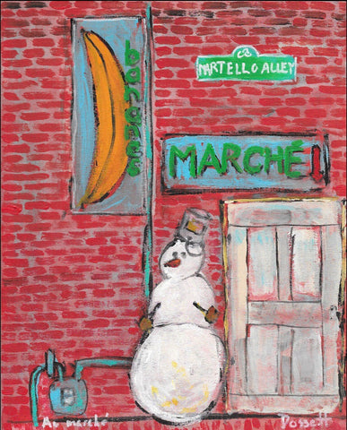 Au marche - print by David Dossett - Martello Alley