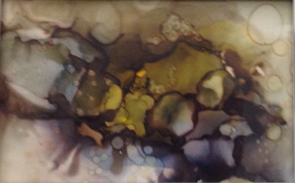 Rocky Shore - Alcohol Ink by Leslie Welfare - Martello Alley