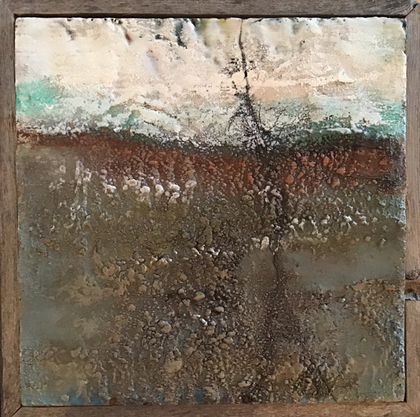 Roadside 6 - Encaustic by Meg Muirhead - Martello Alley