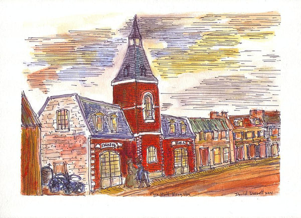 Small Fire Hall Kingston - Print by David Dossett - Martello Alley