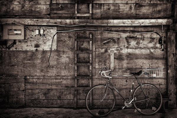 Bike on a Barn -  by Dan Fleury - Martello Alley