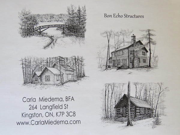 Bon Echo Structures Card pack by Carla -  by Carla Miedema - Martello Alley