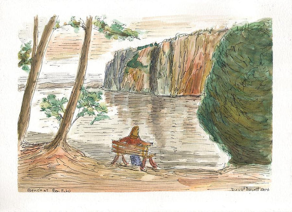 Bench At Bon Echo - Print by David Dossett - Martello Alley