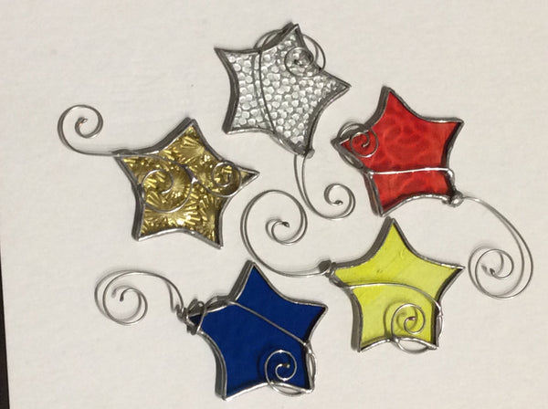 Our Cottage Glass:  Stained Glass Star Ornament