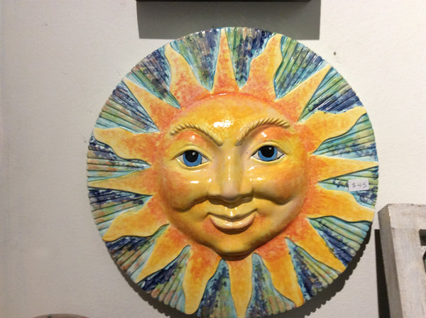 Sun plaque - Ceramic by Annette Bruneau - Martello Alley