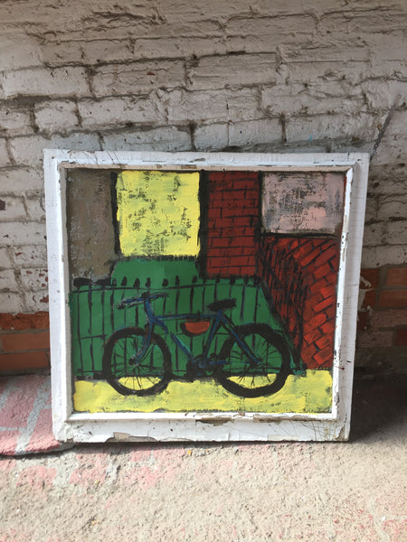 Dawn's New Bike - screen - Outdoor art - screen by David Dossett - Martello Alley