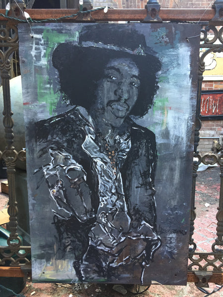 Jimi Hendrix - The Musician - Painting by Martello Alley - Martello Alley
