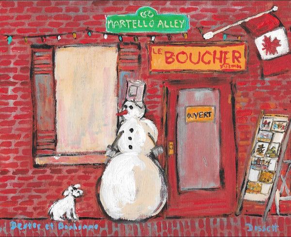 Dexter et Bonhomme - painting by David Dossett - Martello Alley