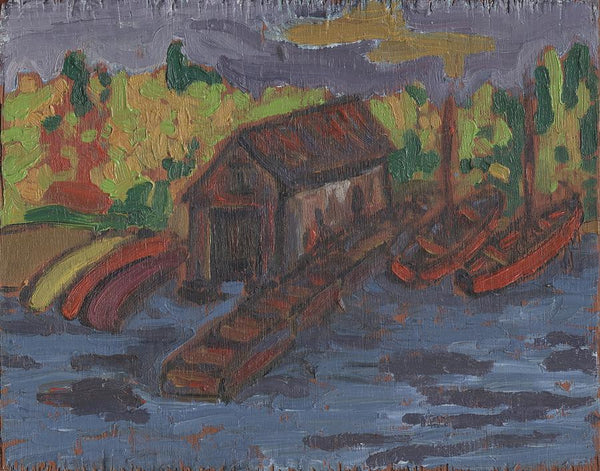 The Boathouse - Print by David Dossett - Martello Alley
