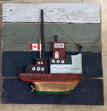 Rustic Boats and Maritime Scenes - Folk art by Stephen Shay - Martello Alley