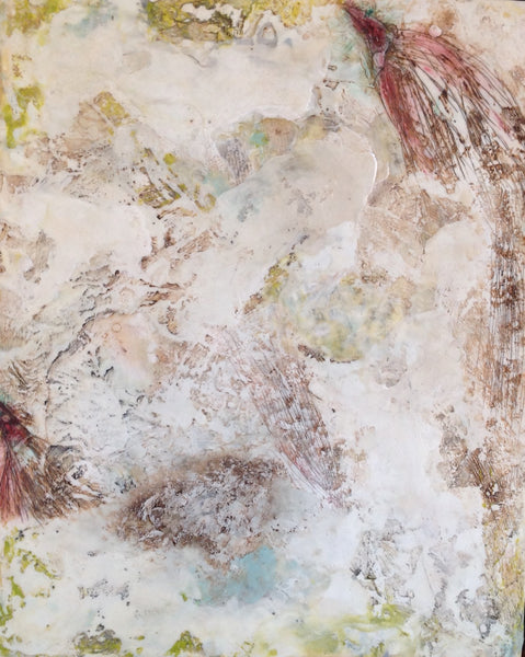 Beyond Words - Encaustic by Meg Muirhead - Martello Alley