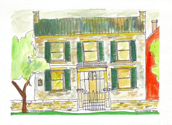 Cartwright House - Print by David Dossett - Martello Alley