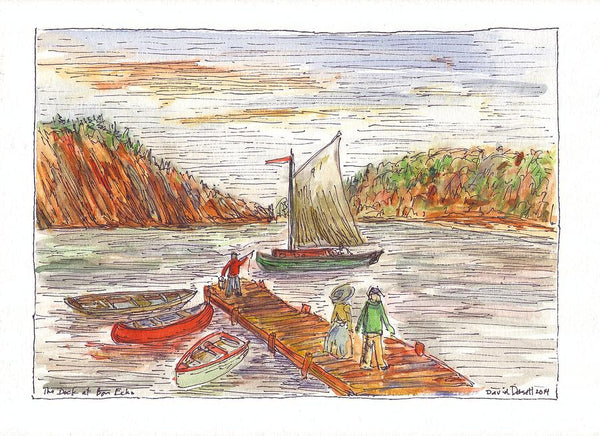 The Dock At Bon Echo - Print by David Dossett - Martello Alley