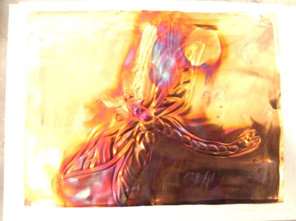 Dragonfly - Copper card by Cathie Hamilton - Martello Alley