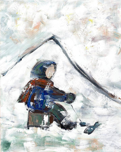 Ice Fishing - Print by David Dossett - Martello Alley