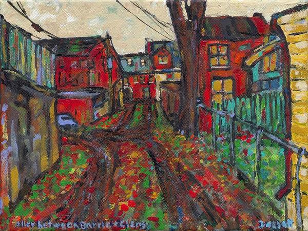 Alley Between Barrie And Clergy - Print by David Dossett - Martello Alley