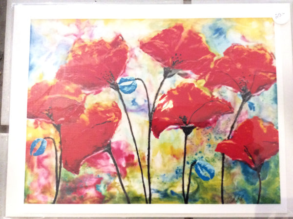 Spring Poppies - Print 8 x 10 by Cathie Hamilton - Martello Alley
