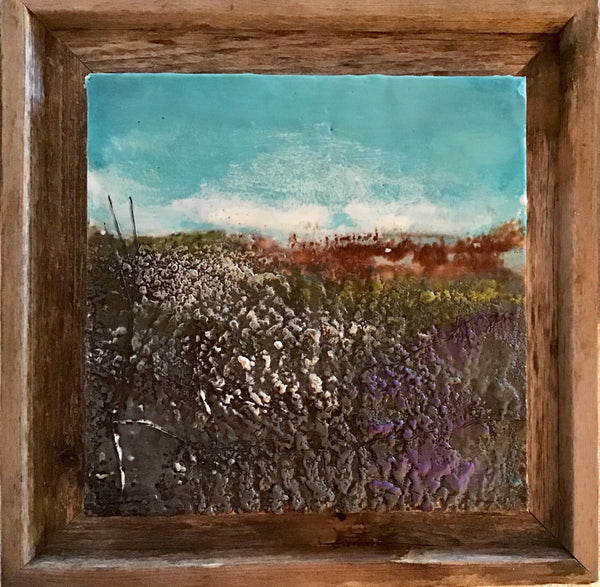 Roadside 3 - Encaustic by Meg Muirhead - Martello Alley