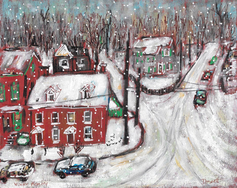 Winter Memory - Painting by David Dossett - Martello Alley