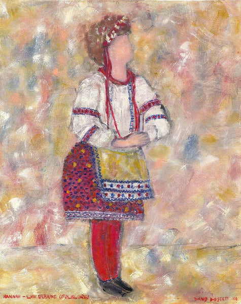 Lg mat Hannah Lviv Ukraine Folklore - Print by David Dossett - Martello Alley