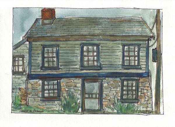 House In Portsmouth - Print by David Dossett - Martello Alley