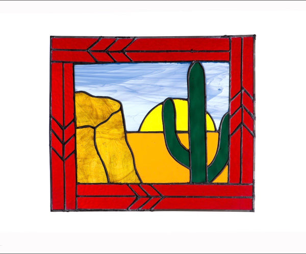 Stained Glass - Cactus (print) - Print by Alistair Morris - Martello Alley