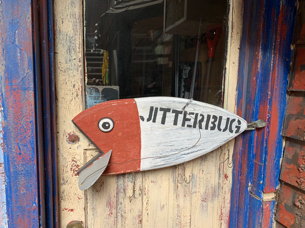 "Giant ""Jitterbug"" Fishing Lure - Folk art by Stephen Shay - Martello Alley"
