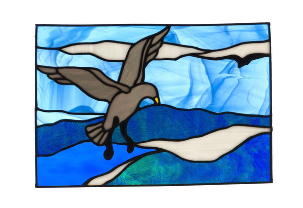 Stained Glass - Seagull (print) - Print by Alistair Morris - Martello Alley