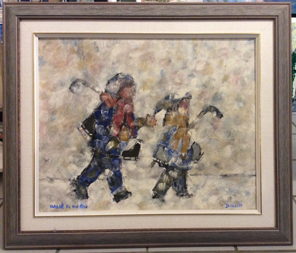 Walk to the Rink - Oil Painting by David Dossett - Martello Alley