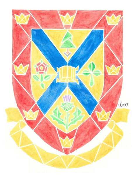 Queen's Crest - Wesley's Watercolour Greeting Card