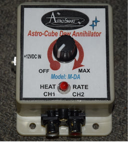 Astro Smart Single Knob Dual Channel Manual Dew Controller 10 amps, with cigar lighter pwr adapter
