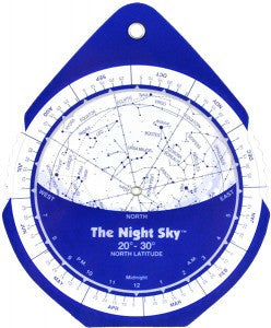 The Night Sky Planisphere SMALL Plastic 30° to 40°
