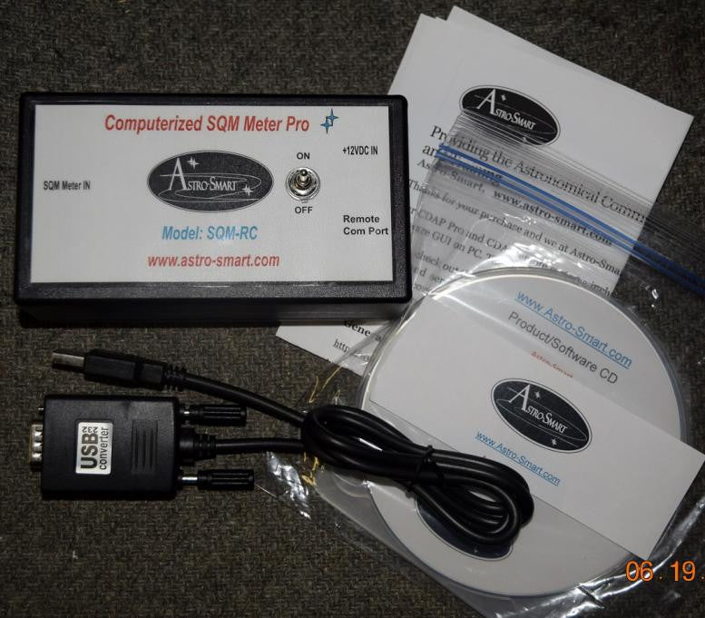 Astro-Smart SQM Meter with 6 foot SQM sensor with cigar lighter pwr adapter and standard software
