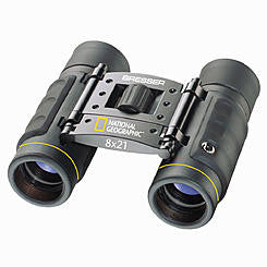 8x21 National Geographic Roof Prism Binoculars - 80-10821